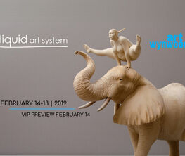 Liquid art system at Art Wynwood 2019