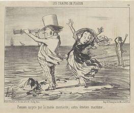 Les Parisiens. Caricatures by Honoré Daumier