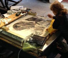 Diane Victor - Manière noir stone lithographs