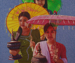 Mind's Shadow Solo Exhibition by Aung Kyaw Htet
