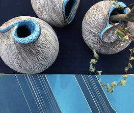 Blue, Shells, Urushi - Shinya Tanoue Contemporary Ceramics exhibition