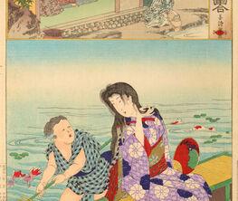 Twenty-four Paragons of Filial Piety by Chikanobu