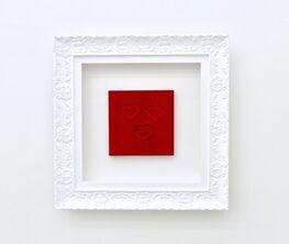 """""""Enlivening Red Velvet Heart"""" Salt Crystal Art Collection"""