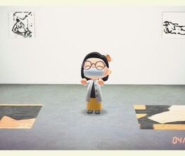 Mattea Perrotta, New Drawings (an exhibition in Animal Crossing New Horizons)