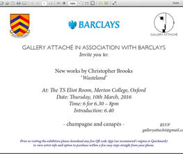 GALLERY ATTACHÉ IN ASSOCIATION WITH BARCLAYS
