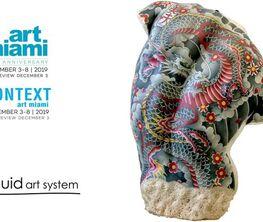 Liquid art system at Art Miami 2019