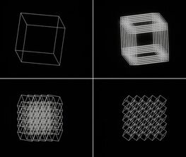 """Manfred Mohr, """"A Formal Language:  Celebrating 50 Years of Artwork and Algorithms"""""""