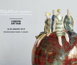 Liquid art system at London Art Fair 2019