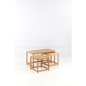 Kurt Østervig, 'Set of three trundle tables', 1960