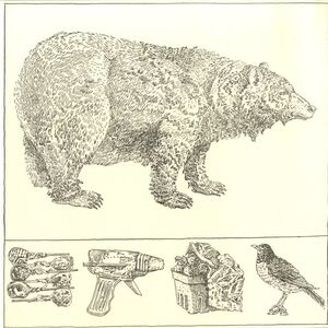 Don Nice, 'BEAR WITH PREDELLA (from Rubber Stamp Portfolio)', 1976