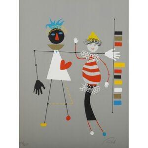 Wolfgang Roth, 'Rare Wolfgang Roth Dada Bauhaus Circus Silkscreen Print 4', 20th Century