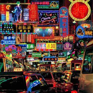 Keith Macgregor, ''Portland Street, Mongkok, Kowloon Neon Fantasy' Hong Kong', Image taken 2001 / Artwork made 2018