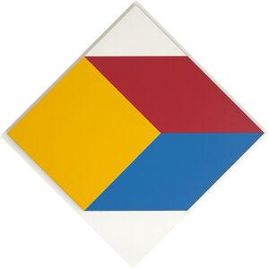 Geraldo de Barros, 'Cubo em três cores', 1985