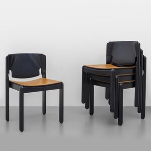 Vico Magistretti, 'A set of four '122' stackable chairs', 1967