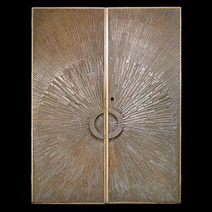 Billy Joe Mccarroll, 'Pair of Heroic Sunburst Doors, California', ca. 1971