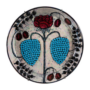 Birger Kaipiainen, 'Small dish, decorated with a rose and pearls', 1960's