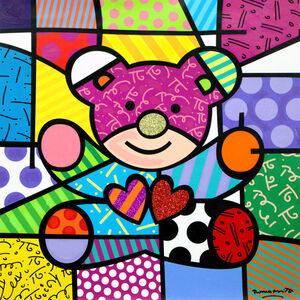 Romero Britto, 'Teddy Bear', 2018