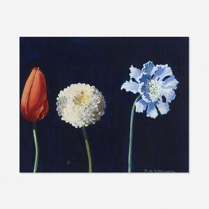 Paul Wonner, 'Three Flowers', 1987-88