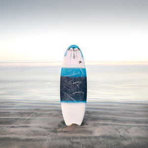 Keith Ramsdell, 'Striped Surfboard at Nosara Beach'