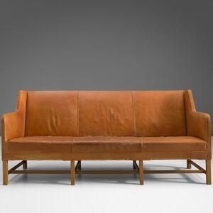 Kaare Klint, '5011 sofa in cognac and mahogany', 1929