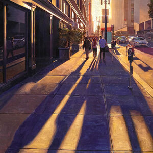 Greg Gandy, 'Long Shadows on Geary #2'