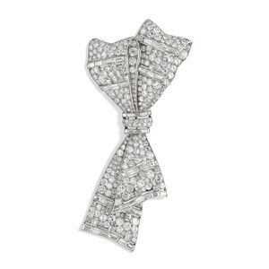 Janesich, 'Diamond bow brooch', ca. 1930