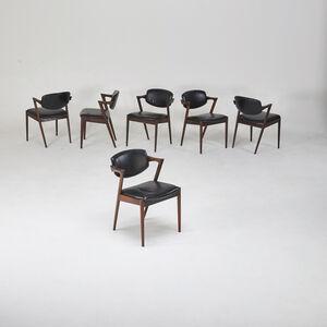 Kai Kristiansen, 'Six dining chairs', 1960s