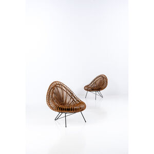 Attributed to Franco Albini, 'Pair Of Armchairs', 1950