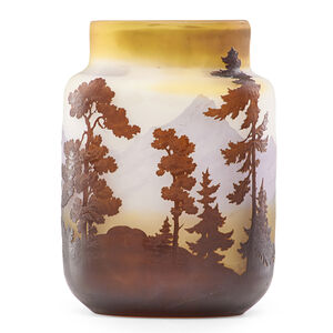 Galle, 'Vase with Alpine landscape'