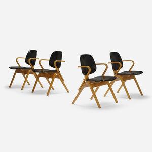Joe Atkinson, 'armchairs, set of four', c. 1955