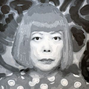 Rob and Nick Carter, 'Yayoi Kusama Robot Painting, Painting time: 46:31:30 Stroke count: 8,948 14-15 January 2020', 2020