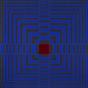 Edna Andrade, 'Blue Cross With Red (Cruz azul con rojo)', 1968