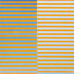Dadamaino, 'Ricerca del colore. Azzurro su arancio', 1966-1968