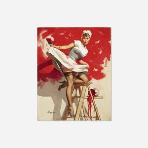 Gil Elvgren, 'In the Red', 1950