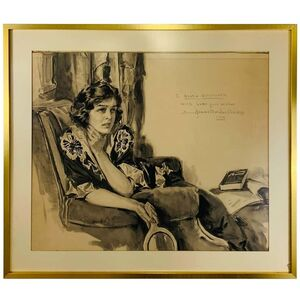Howard Chandler Christy, 'Howard Chandler Christy Portrait of a Woman 1940, Signed, Dated and Framed', ca. 1940