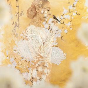 Emma Hack, 'Oriental Bouquet Cradled Finch - Utopia', 2014