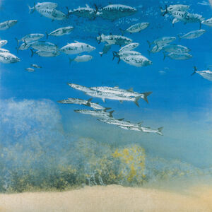 Michael Andrews, 'School IV: Barracuda under Skipjack Tuna', 1978