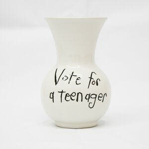 "Cary Leibowitz (""Candy Ass""), 'Vote for a Teenager', 2018"