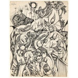 Malangatana Ngwenya, 'Untitled', 1987