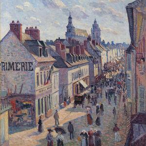 Maximilien Luce, 'Jour de marché à Gisors (rue Cappeville)', 1897