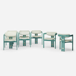 Pozzi, 'Pamplona dining chairs, set of eight', 1965