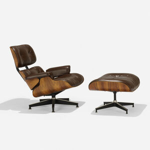 Charles and Ray Eames, '670 armchair and 671 ottoman', 1956/1980