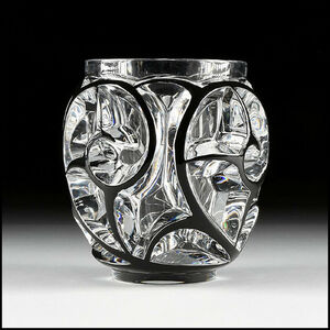 Lalique, 'Lalique Studio France Signed Crystal Tourbillons Vase Cristallerie Glass Rene', 1978