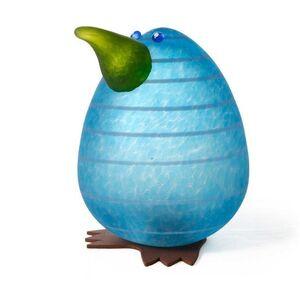 Borowski Glass, 'Kiwi Egg Paperweight: 24-02-92 in Blue', ca. 2018