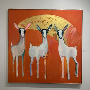 Selina Trieff, 'Three Little Goats on Red', n.d.