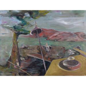 Valérie Favre, 'Exercices de vols avec une cigogne', 2001