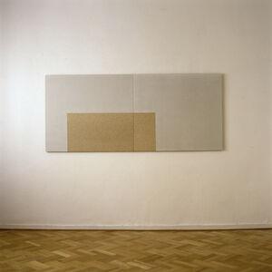 Hartmut Böhm, 'wandarbeit aus den maßen einer progression gegen unendlich mit 30° I (two-part)', 1991