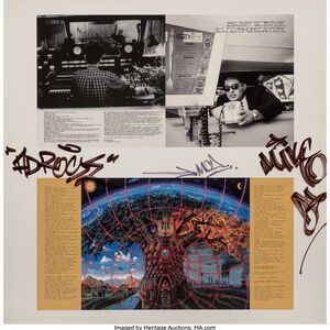 The Beastie Boys, 'Ill Communication Artwork - Album artwork signed in April 1994 by Ad-Rock, Mike D, and MCA in ink at a photo shoot.', 1994