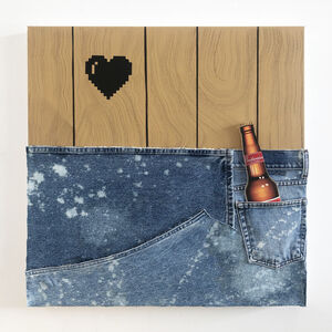 Wendy White, 'Jeans Panel (Budweiser)', 2020