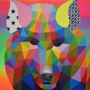 Okuda San Miguel, 'Wolf Mirage', 2019